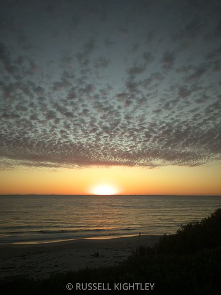 Sunset on Cottesloe South Beach