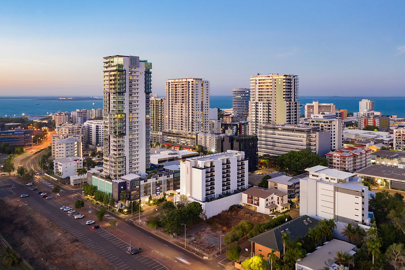 Skyline of Darwin at Dawn