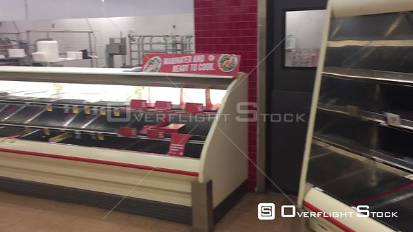 Empty Food  Store Shelves due to Covid-19 Shortages