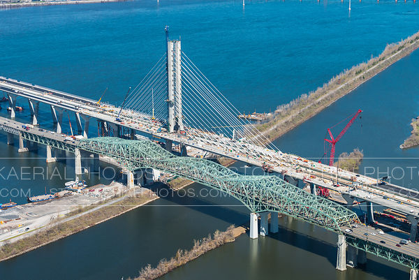 Champlain Bridge Construction, May 2019