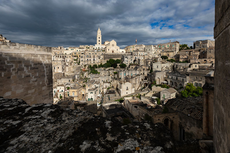 View of Matera Towards the Cathedral