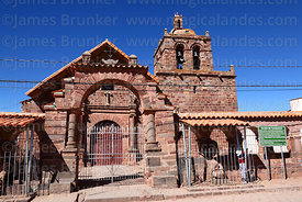 San Pedro church, Tiwanaku, La Paz Department, Bolivia