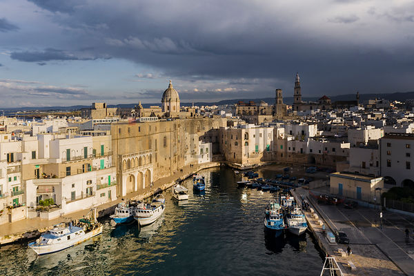 Elevated View of the Port in the Old City of Monopoli
