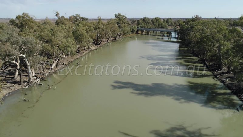 Lower end of The Great Anabranch of the Darling River.