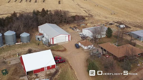 Farm Buildings in Late Fall, Plymouth, Nebraska, USA