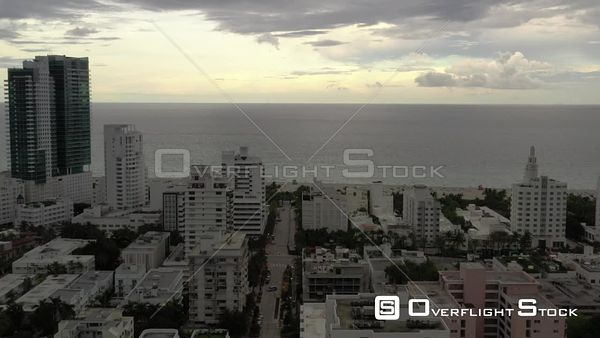 Drone video Aerial reveal The Raleigh Hotel Miami South Beach FL