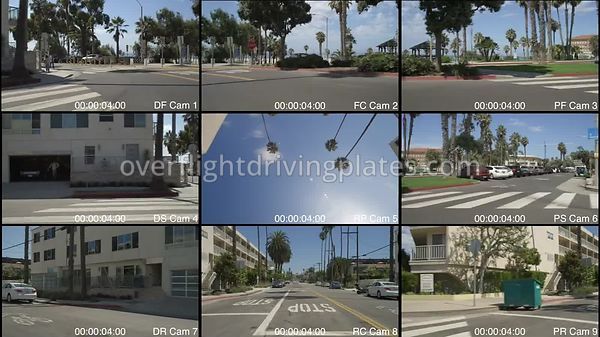 Oceanfront  Santa Monica California USA - Driving Plate Preview 2012