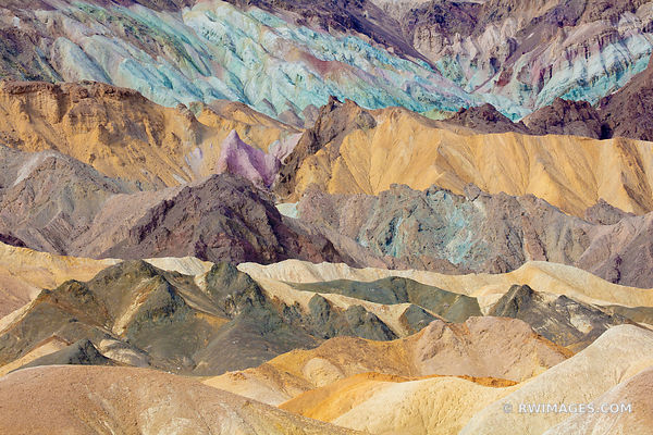 COLORFUL BADLANDS TWENTY MULE TEAM CANYON DEATH VALLEY CALIFORNIA AMERICAN SOUTHWEST DESERT LANDSCAPE