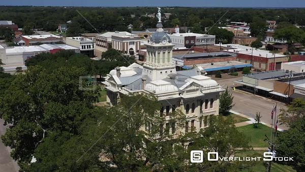Milam County Courthouse and Town Square, Cameron, Texas, USA