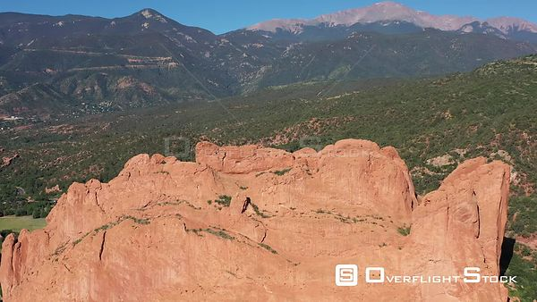Pikes Peak and the kissing camels, Colorado Springs, Colorado, USA