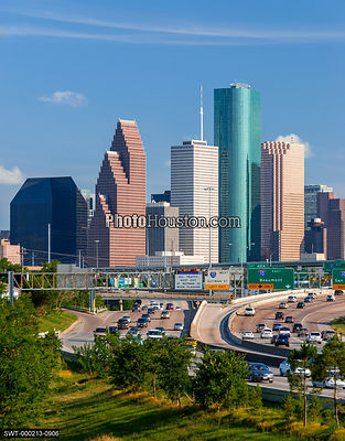 Houston Skyline and city highways