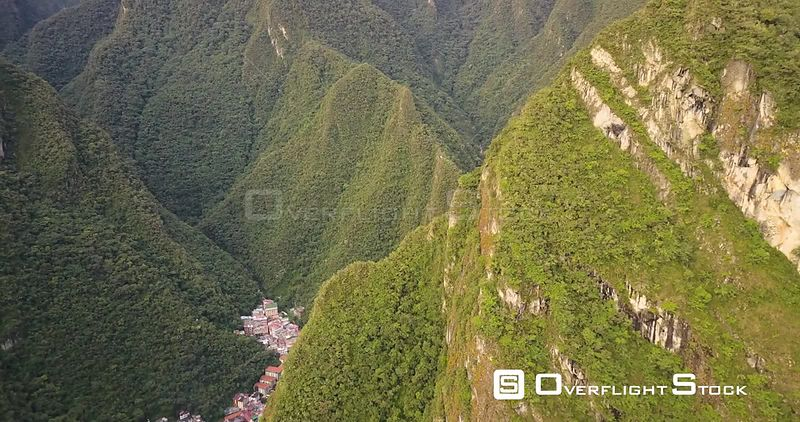 Village of Aguas Clientes Peru in th High Andes nead Machu Picchu