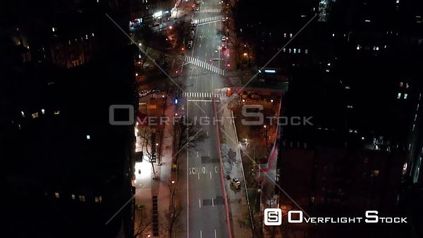 Drone Video of  Abandoned Streets Manhattan New York During the COVID-19 Pandemic