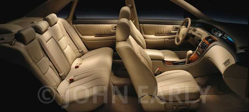 Tan Leather Buck Interior From Passenger Side Profile