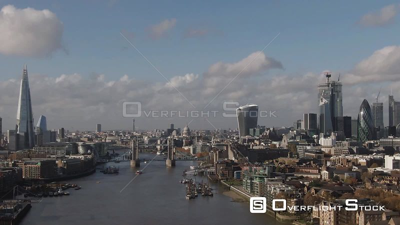 Tower Bridge and the City of London England