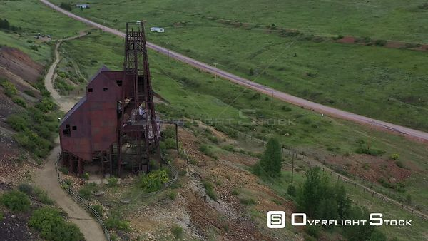 Gold mine super structure, rusting and abandoned, Victor, Colorado, USA