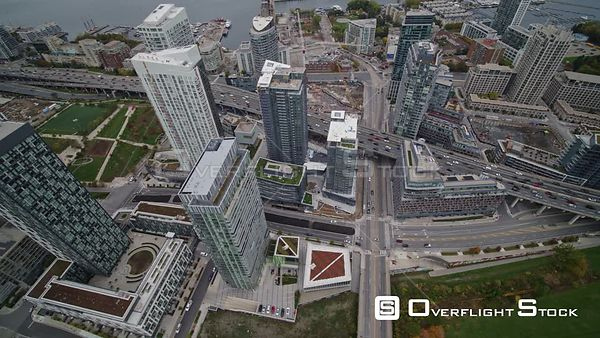 Toronto Ontario Panoramic birdseye cityscape overtop Cityplace neighborhood