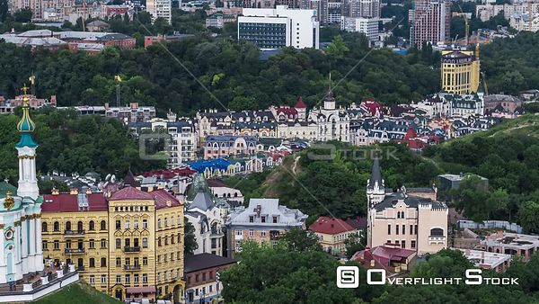 Drone Video Cityscape Kiev Ukraine