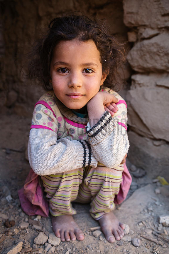 Portrait of a Yemeni Girl at Bayt Baws