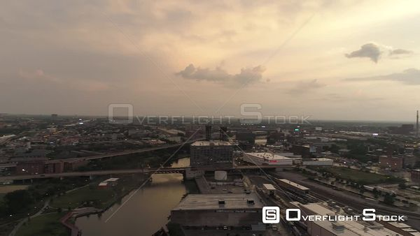Industrail South Chicago Illinois Drone Aerial View