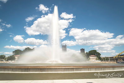 Point Fountain and Blue Sky- Pittsburgh, PA