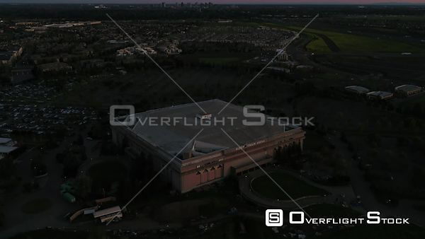 Drone Video Arean Converted to Temperary Hospital for COVID-19 Patients in Sacramento California