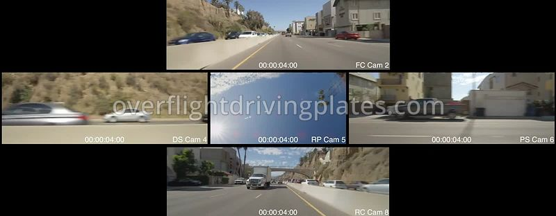 Highway 1 to Freeway  Santa Monica California USA - Driving Plate Preview 2012