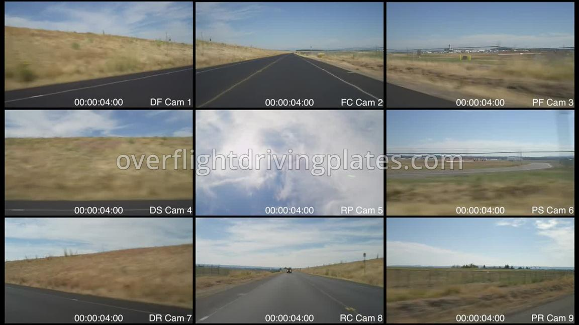 Airport River Road toward Airport  Portland Oregon USA - Driving Plate Preview 2012