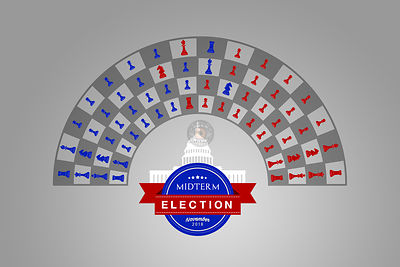 The US Midterm Elections Chess Game.