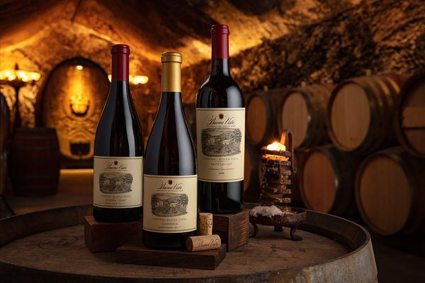Styled wine photography for Buena Vista Winery, Sonoma, California by Jason Tinacci