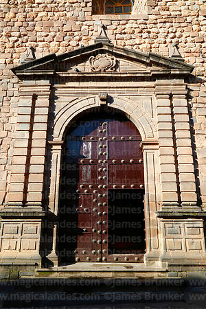 Main entrance of Santa Clara church, Cusco, Peru