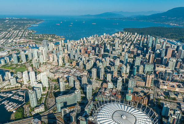 Downtown Vancouver and English Bay