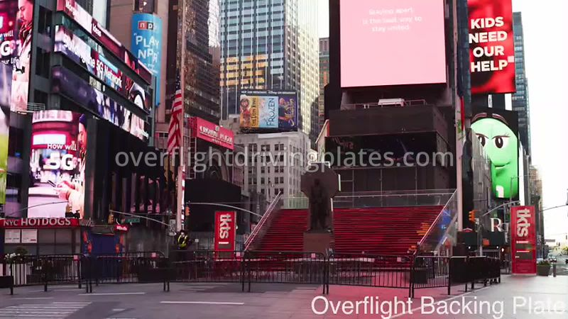 Duffy Square Deserted Streets During Covid-19 Pandemic Time Square Manhattan New York New York USA - BackingPlate Apr 26, 2020