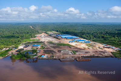 Looging and Mill Along the Essequibo River Guyana
