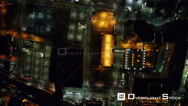 New Jersey Newark Aerial Vertical Downtown Night