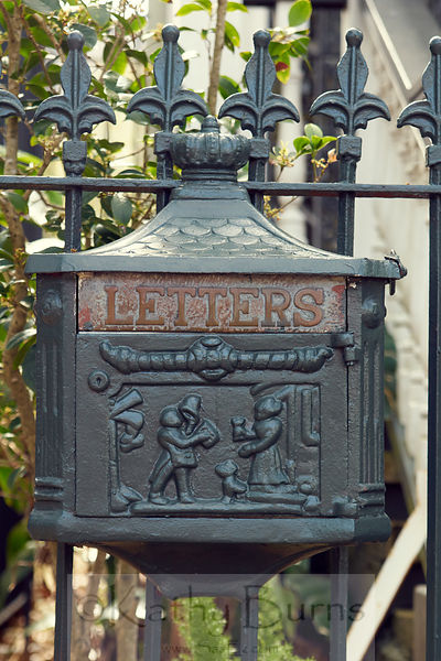 New Orleans carved mailbox