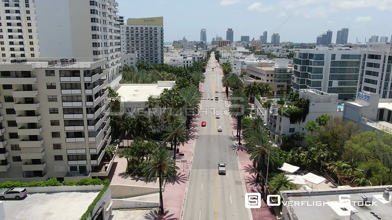 A1A Collins Ave South Beach Miami Florida During Covid-19 Pandemic