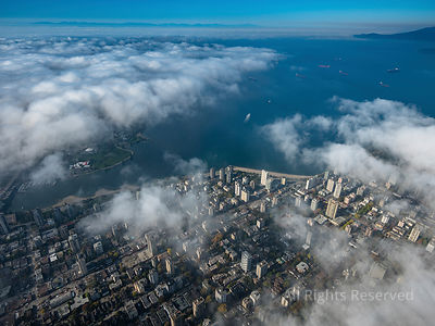 Vancouver Under Scattered Clouds