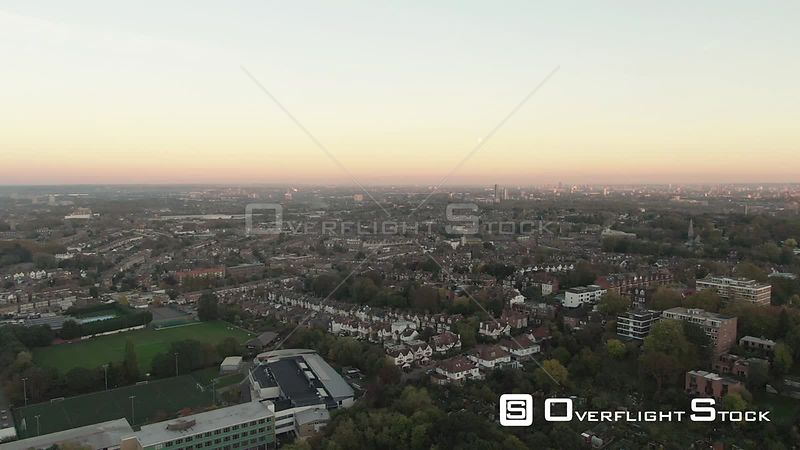 Skyline of London from the North at Sunset England