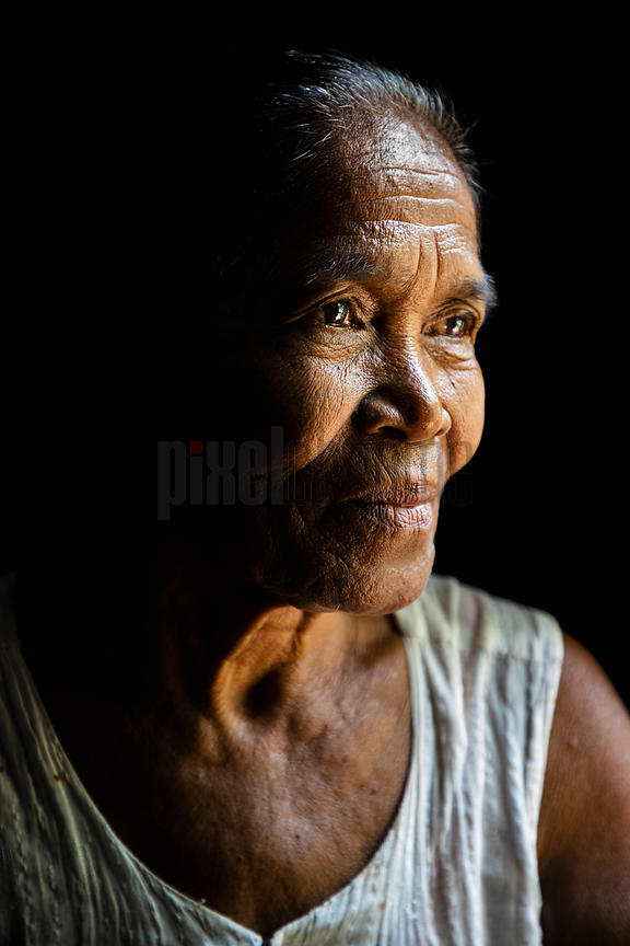 Portrait of a Woman who Relocated from Rakhine State in Burma