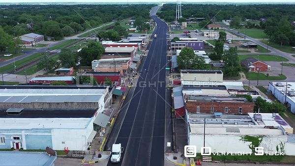 Overview of a Rural Small Town, Calvert, Texas, USA