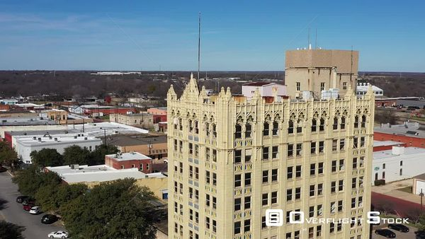 Chase Bank Building in Downtown, Corsicana, Texas, USA