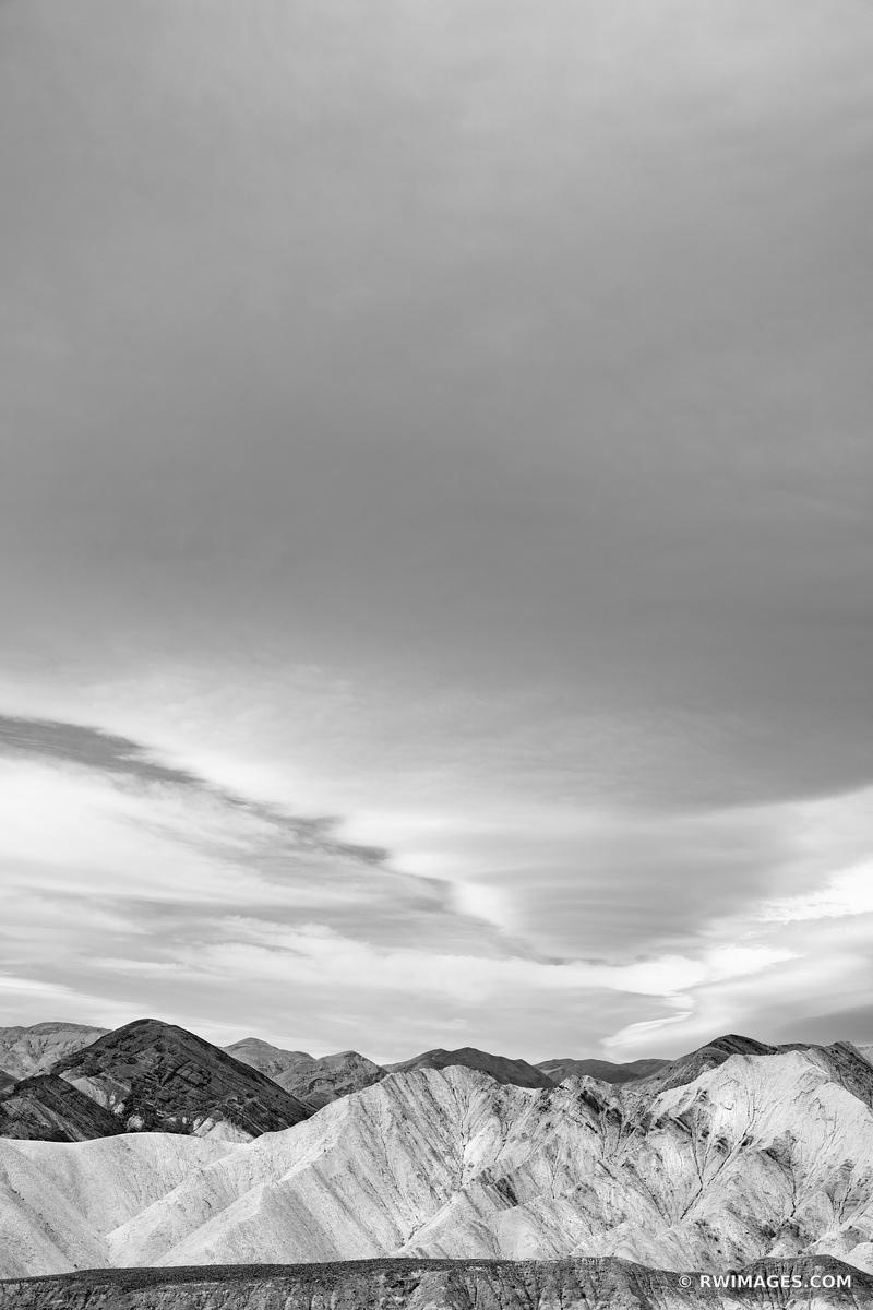 GOLDEN CANYON DEATH VALLEY CALIFORNIA AMERICAN DESERT SOUTHWEST LANDSCAPE VERTICAL BLACK AND WHITE