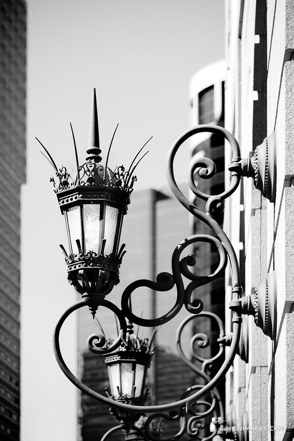 OLD STREET LAMP BOSTON BLACK AND WHITE VERTICAL