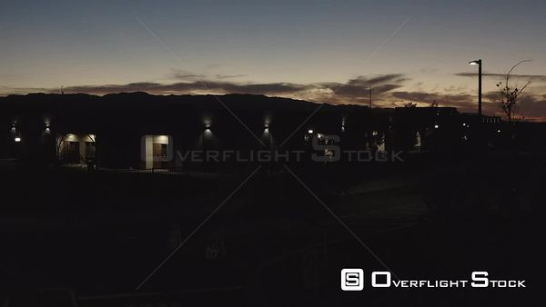 High School Drone Aerial View Santa Clarita California