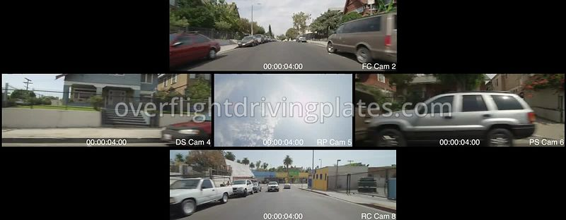 West LA Residential  Los Angeles California USA - Driving Plate Preview 2012