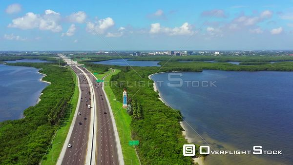 Aerial video welcome to St Petersburg Florida USA 4k