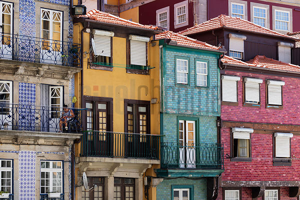 Colourful Houses in the Ribeira Neighborhood