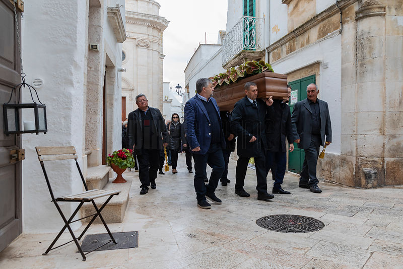Bearers Carry a Coffin to the Graveyard from the Chiesa Madre San Giorgio
