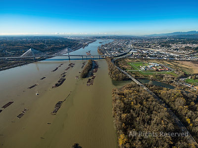Port Mann Bridge and Fraser River